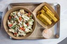 Cauliflower Rice Bowl & Polenta Fries at Shouk in Washington, D.C.
