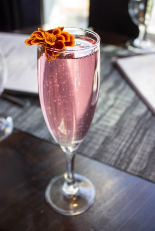 Champagne Cocktail from B Too in Washington, D.C.