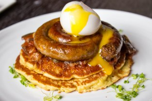Merguez Sausage & Chickpea Cakes at Black Barn in New York City
