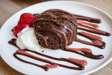 Molten Chocolate Lava Cake at Sonoma Cellar in Alexandria, VA