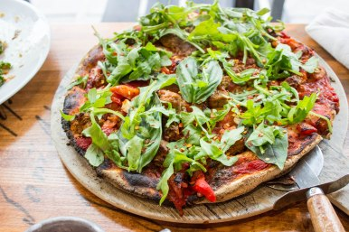 Sausage & Arugula Pizza at Declaration in Washington, D.C.